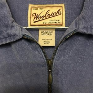 Woolrich light blue soft zip collar shirt